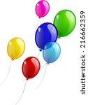 balloons  multicolored... | Shutterstock .eps vector #216662359