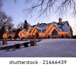residential house with... | Shutterstock . vector #21666439