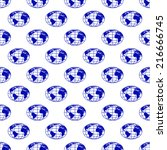 seamless pattern of the globes. ... | Shutterstock .eps vector #216666745