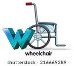 illustration of a letter w for... | Shutterstock .eps vector #216669289