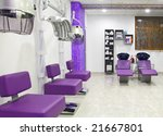 luxurious interior of a beauty salon - stock photo