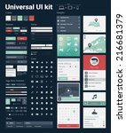 universal ui kit for designing... | Shutterstock .eps vector #216681379