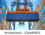 Shore Crane Loading Containers...