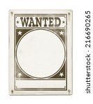 Wanted Poster Isolated On Whit...