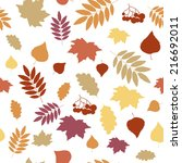 autumn seamless pattern with...   Shutterstock .eps vector #216692011