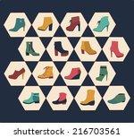 Icons Set Of Fashion  Footwear...