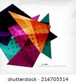 modern 3d glossy overlapping... | Shutterstock . vector #216705514