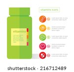vitamins flat   health symbol   ...   Shutterstock .eps vector #216712489