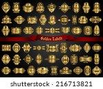 54 golden labels | Shutterstock .eps vector #216713821
