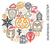 halloween icon color circle | Shutterstock .eps vector #216726769