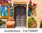 santorini oia july 28  local... | Shutterstock . vector #216730849