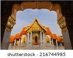 wat benjamaborpit  marble... | Shutterstock . vector #216744985