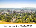 panorama of rapid city  south...   Shutterstock . vector #216768799