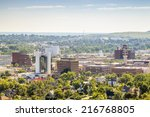 panorama of rapid city  south... | Shutterstock . vector #216768805