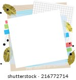template for a cookbook. cool... | Shutterstock .eps vector #216772714