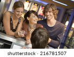 people buying movie tickets at... | Shutterstock . vector #216781507