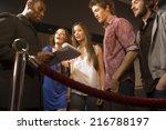 friends entering a club. | Shutterstock . vector #216788197