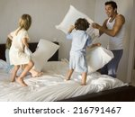 parents playing with their kids. | Shutterstock . vector #216791467