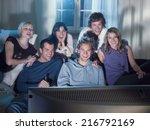 friends watching a movie. | Shutterstock . vector #216792169