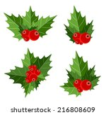 christmas berry sign vector...