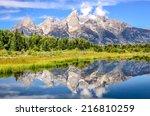 Grand Teton Mountains Landscap...