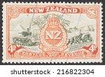new zealand   circa 1946  a... | Shutterstock . vector #216822304