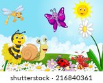 cartoon small animals | Shutterstock .eps vector #216840361