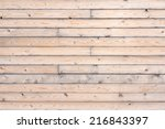 brown natural wood texture and... | Shutterstock . vector #216843397