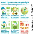 good tips for losing weight... | Shutterstock .eps vector #216844909