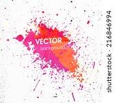 paint splash with grunge... | Shutterstock .eps vector #216846994