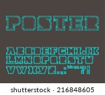 vector graphic bold alphabet... | Shutterstock .eps vector #216848605