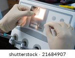 doctor observing dental x ray... | Shutterstock . vector #21684907