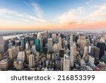 aerial view of new york city... | Shutterstock . vector #216853399