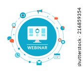 webinar illustration. online... | Shutterstock .eps vector #216859354