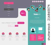website design template with ui ...