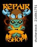 repair shop | Shutterstock .eps vector #216861751