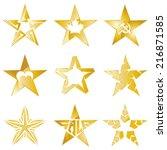 the gold stars original vector... | Shutterstock .eps vector #216871585