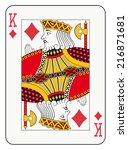 king of diamonds playing card | Shutterstock .eps vector #216871681