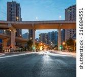 junction with light in shanghai | Shutterstock . vector #216884551