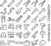 construction tool icon... | Shutterstock .eps vector #216886024