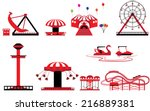 Set Of Theme Park And Amusement