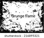 grunge frame. vector template | Shutterstock .eps vector #216895321