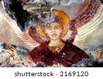 ancient fresco of an angel  ... | Shutterstock . vector #2169120