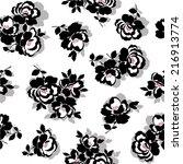 flower pattern  | Shutterstock .eps vector #216913774