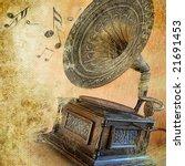musical retro - stock photo