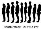 full length of silhouette... | Shutterstock .eps vector #216915199