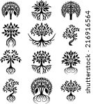 collection of trees   Shutterstock .eps vector #216916564