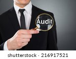 midsection of young businessman ... | Shutterstock . vector #216917521