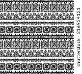 tribal art ethnic seamless... | Shutterstock . vector #216924121