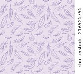 seamless pattern with violet... | Shutterstock .eps vector #216925795